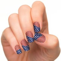 Incoco Nail Polish Strips, American Flag Nail Art, Star Spangled