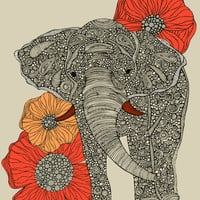 The Elephant Art Print by Valentina