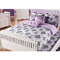 Paige Lilac-Black Full Bed Set