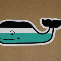 WHALE VINEYARD VINES NAUTICAL STRIPE VINYL STICKER DECAL SOUTHERN PROPER