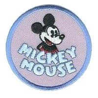 Mickey Mouse Round Disney Iron On Applique Patch 937524