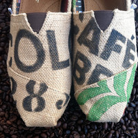 Custom TOMS  Burlap Coffee bag design by triSERIFtops on Etsy