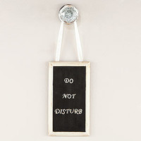 'Do Not Disturb' Bathroom Door Hanger | Bathroom| Bed & Bath | World Market