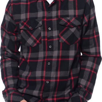 Empyre prey black red plaid long sleeve from zumiez for Red black and white flannel shirt