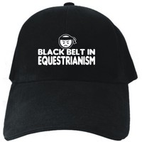 BLACK BELT IN Equestrianism Black Baseball Cap Unisex