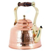 Old Dutch 2 Quart Solid Copper Teakettle With Wooden Handle
