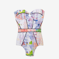 Suboo Floral Print Bustier One Piece Swimsuit-One Piece-RESORT REPORT-What To Wear-Categories- IntermixOnline.com