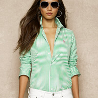 Striped Slim-Fit Poplin Shirt