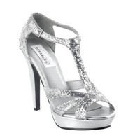shop prom dresses | plus size prom dresses | prom shoes | Samara by Dyeables 23112 Silver Platform Sandal | GownGarden.com