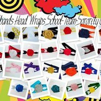 Wholesale handmade headbands, School Team Colors, Party Favors