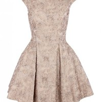 The Pretty Dress Company Womens Beige Lace Fifties Style Full Skirt Dress