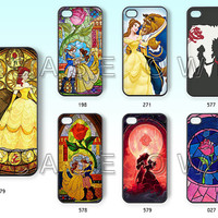 Phone cases, iPhone 5 case, iPhone 5C case, Samsung S3 S4 case, iPhone 5S case, iPhone 4/4s case, Beauty and Beast, Rose Glass, Case -16