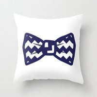 Chevron Bow Tie Throw Pillow by LookHUMAN