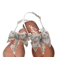 ModCloth Statement Twinkling Trimmings Sandal in Silver