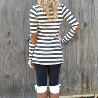 Harding Hills Charcoal Striped Cardigan