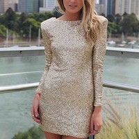 FLOURISH IN DARKNESS DRESS , DRESSES, TOPS, BOTTOMS, JACKETS & JUMPERS, ACCESSORIES, 50% OFF SALE, PRE ORDER, NEW ARRIVALS, PLAYSUIT, COLOUR, GIFT VOUCHER,,Sequin,Gold,BODYCON Australia, Queensland, Brisbane