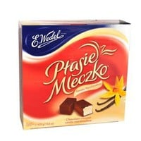 Ptasie Mleczko Chocolate Covered Vanilla Marshmallow (birds milk chocolate), 14.8 Oz