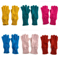 SUPER SALE ends 5pm PST: Knitted warm fashion gloves