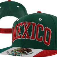 Mexico Super Star Snapback Cap, Light Forest