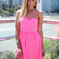 RULES OF ATTRACTION DRESS , DRESSES, TOPS, BOTTOMS, JACKETS & JUMPERS, ACCESSORIES, 50% OFF SALE, PRE ORDER, NEW ARRIVALS, PLAYSUIT, COLOUR, GIFT VOUCHER,,Pink,SLEEVELESS Australia, Queensland, Brisbane