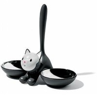 Alessi Tigrito Cat Bowl Black - Speranza Design Gallery