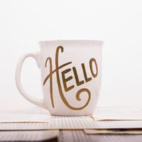 Custom Mug Design | Hello Design #2 | 14 oz. Ceramic Mug | Trendy Custom Gift