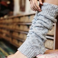 Free People Womens Nub Yarn Legwarmer - Ivory One