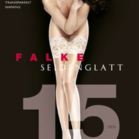 Falke Seidenglatt Shine Stay-Up Thigh Highs Hosiery 41584 at BareNecessities.com