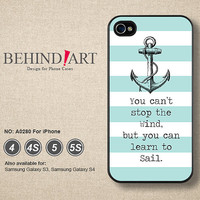 Phone Cases iPhone 5 case iPhone 5C Case iPhone 5S case iPhone 4 Case iPhone 4S Case Phone Covers iPhone Case Strip Anchor-A0280