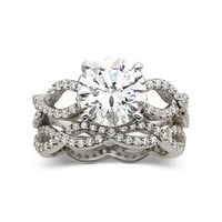 DiamonArt® Cubic Zirconia Engagement Ring Set