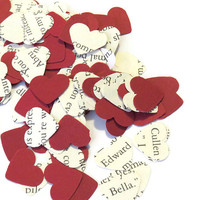 Twilight Confetti - Wedding Decor -Valentines Day Decor - Heart Confetti - 100 Pieces