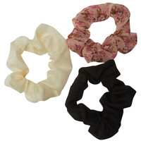 Floral Scrunchy 3 Pack | Wet Seal