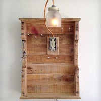 Reclaimed Wood Hanging Jewelry Organizer