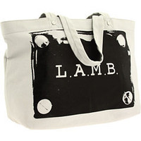 L.A.M.B. Malibu Canvas Tote (Grey/Black Print) - L.A.M.B. Handbags