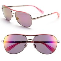 kate spade new york 'dusty' 56mm metal aviator sunglasses | Nordstrom