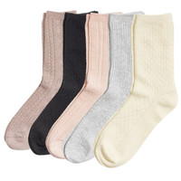 H&M - 5-pack Socks - Multicolored - Ladies