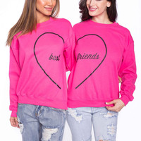 FRIEND BFF PINK SWEATSHIRT