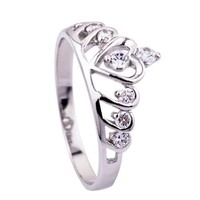 925 STERLING SILVER Ring fashion Crown Princess Queen girl valentine gift CVR0047