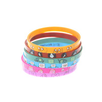 Adventure Time Characters Rubber Bracelet 6 Pack