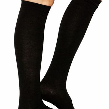 So Solid Over-The-Knee Socks