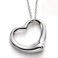 925 Silver Big Hearts Necklace