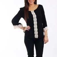 The Marissa Blouse, Black