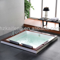 Luxury Square Drop In Two Person Whirlpool Massage Bathtub - Buy Massage Bathtub,Square Bathtub,Drop In Bathtub Product on Alibaba.com