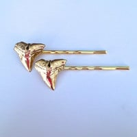 shark teeth hair pins