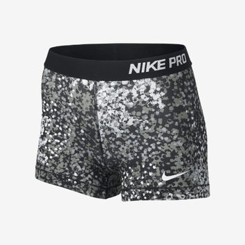 "Nike 3"" Pro Core Compression Printed Women's Shorts - Black"