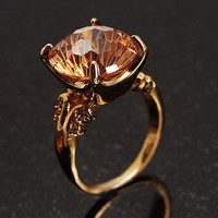 Citrine Rock Cocktail Ring - avalaya.com