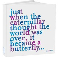 Caterpillar Quote Blue Bound Journal 8x8