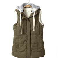 Superbaby Women Hooded Fleece Quilted Vest 14W 16W