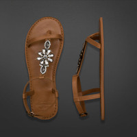 Shine Leather Flip Flop
