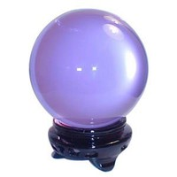 Pure Quartz Crystal Ball with Wood Stand - Lavender 8 Cm - Beautiful As Display or A Powerful Feng Shui Tool